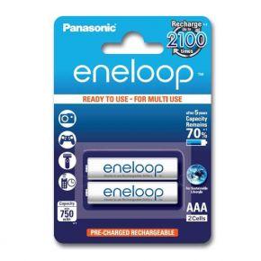 Įkraunami elementai Panasonic Eneloop HR03 750 mAh AAA 2vnt