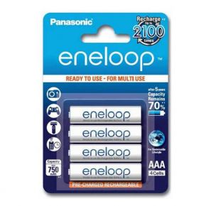 Įkraunami elementai Panasonic Eneloop HR03 750 mAh AAA 4vnt