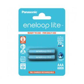 Įkraunami elementai Panasonic Eneloop Lite HR03 550 mAh AAA 2vnt