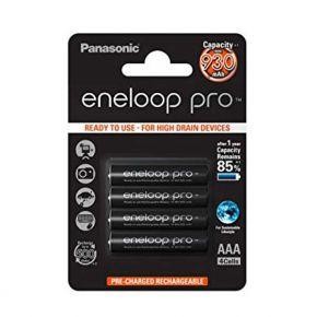 Įkraunami elementai Panasonic Eneloop Pro HR03 930 mAh AAA 4vnt