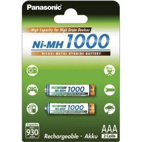 Įkraunami elementai Panasonic NiMh HR03 1000 mAh AAA