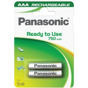 Įkraunami elementai Panasonic Ready to Use HR03 750 mAh AAA 2vnt
