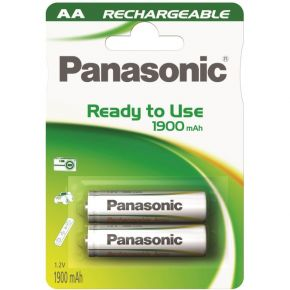 Įkraunami elementai Panasonic Ready to Use HR6 1900 mAh AA 2vnt